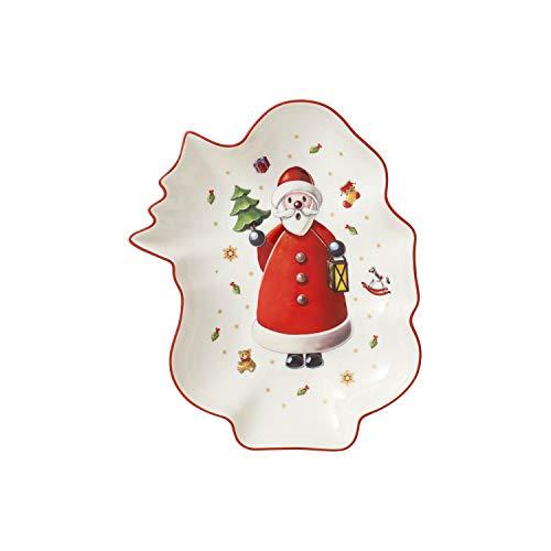 Villeroy & Boch Toy's Delight Coupelle en forme de père Noël, Porcelaine Premium, Blanc/Rouge