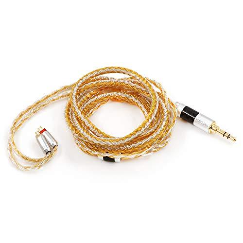 Linsoul Tripowin Zonie 16 Core - Cable para auriculares SPC (bañado en plata)