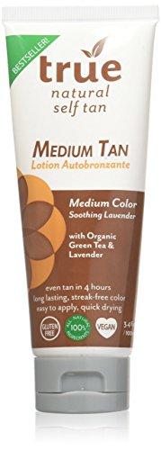 True Natural Organic Self Tanner, Light-Medium Tan 3.4...
