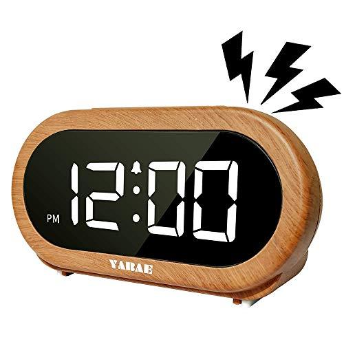 YABAE(ヤバエ)『目覚まし時計木目調』