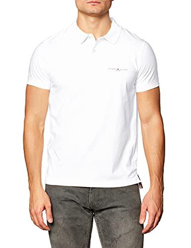 Tommy Hilfiger Clean Jersey Slim Polo Camisa, Blanco, L para Hombre
