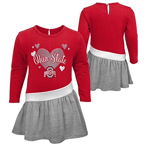 Outerstuff NCAA Ohio State Infant and Toddler Girl Jersey Dress (2T)