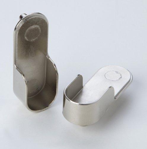 2 Stück Schrankrohrlager Schrankrohraufhänger Kleiderstangenaufhänger Metall vernickelt Durchmesser 20mm