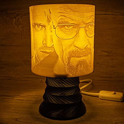 Breaking Bad Lámpara Abat-Jour LED RGB impresa en 3D