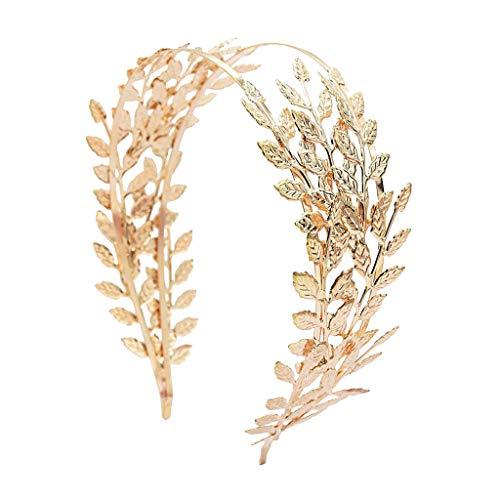 Milageto Boho Hair - Banda para el pelo para novia - Accesorio para el pelo con hojas