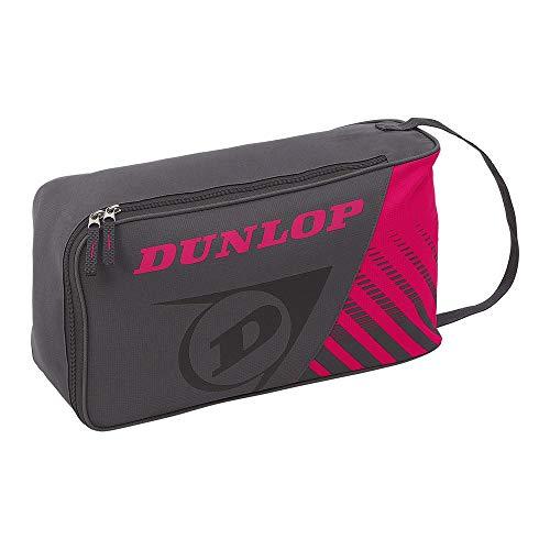 ダンロップ(DUNLOP) テニス CLUB LINE シューズケース グレー×ピンク(037) DTC2038 One Size