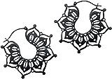 Wildcat Black Magnolia Hoops Frauen Ohrring schwarz Edelstahl Fashion & Style