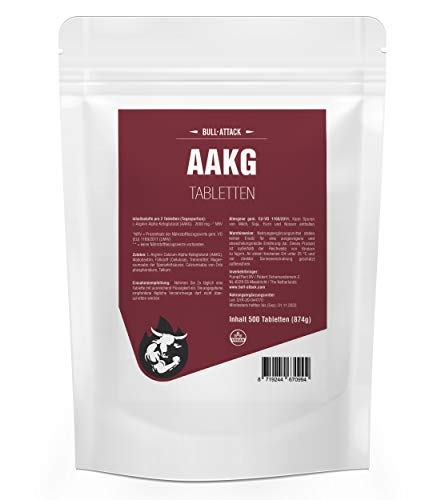 AAKG NOX-1500 | 500 Tabletten a 500mg | Vorratspackung | Reines A-AKG Arginin-Alpha-Ketoglutarat | Nitro + Pre-Workout Booster | Für den Muskelaufbau und