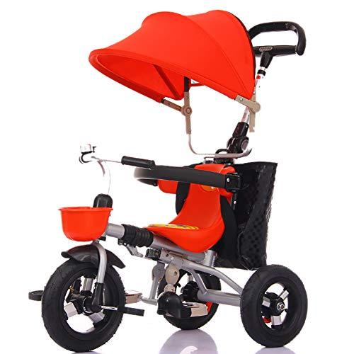Bébé GUO@ Tricycle Titanium pour Enfants Roue Vide Poussette Chariot Pliable 1-3-5 Ans Porte