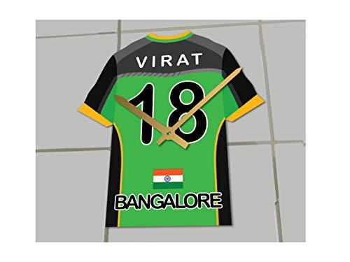 MyShirt123 IPL Uhr Indian Premier League Team Trikot, Royal Challengers Bangalore Uhr, 17.5CM X 15CM X 0.5CM
