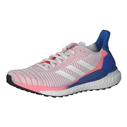 adidas Solar Glide 19, Zapatillas de Carretera Mujer, Cristal Blanco/Calzado Blanco/Azul Gloria, 38 EU