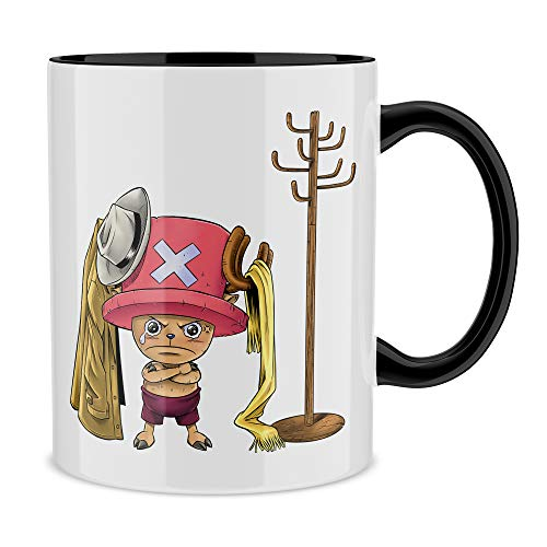 Okiwoki Mug Noir One Piece parodique Tony Tony Chopper : Un Pirate complètement cintré. : (Parodie One Piece)