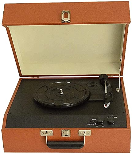 SXLCKJ Tocadiscos, fonógrafo, Antiguo, Creativo, Bluetooth, Audio, Vinilo, Tocadiscos, PU, fonógrafo Retro, Madera, ornamen Europeo