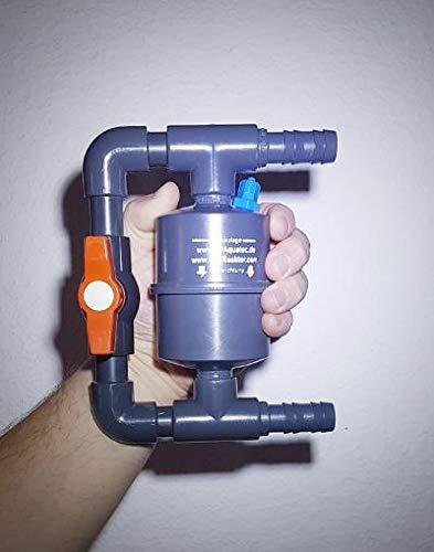 JDAquatec.de Bis 3000L Aquarium, 16mm fest installierter Bypass mit C02 Midi-Reaktor und Befestigungsschelle