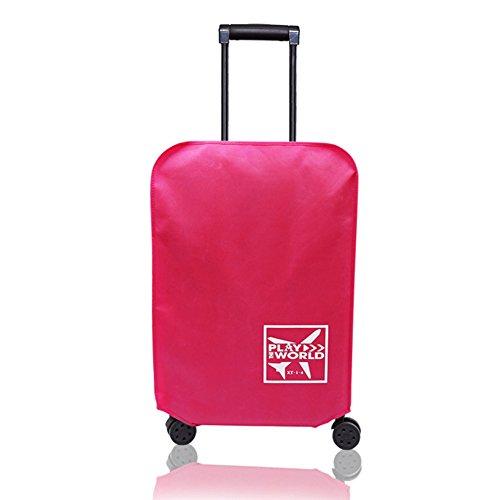 LYCOS3 Funda de equipaje de viaje, impermeable y antiarañazos, funda protectora para maleta de viaje de 20 a 30 pulgadas, rojo rosado, 76,20 cm
