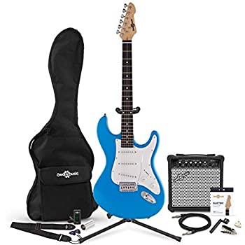 Set Completo de Guitarra Electrica LA + Amplificador de 15 W Blue: Amazon.es: Instrumentos musicales