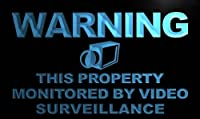 Multi Color m782-c Warning This Property Monitors Video Neon LED Sign with Remote Control, 20 Colors, 19 Dynamic Modes, Speed & Brightness Adjustable, Demo Mode, Auto Save Function
