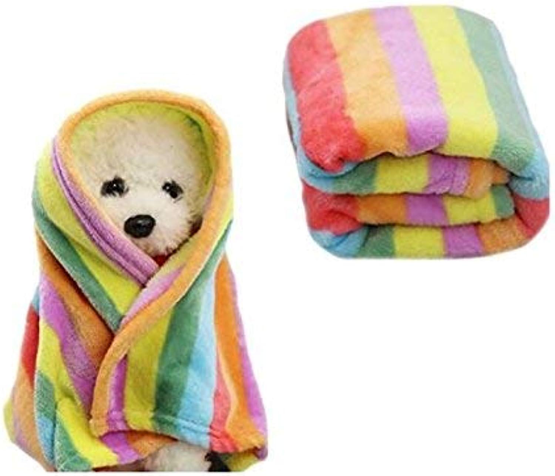 LLIND Pet Supplies Cat Mat Bed Cushion Pad Pet Bath Towel Pet Bed Blanket Soft Fleece Blanket Pet Dog Puppy