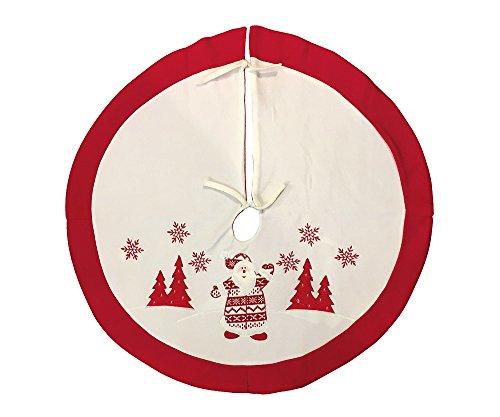 zeitzone Weihnachtsbaumdecke Weihnachtsmann Weiß Rot Christbaum-Unterlage Ø 90cm