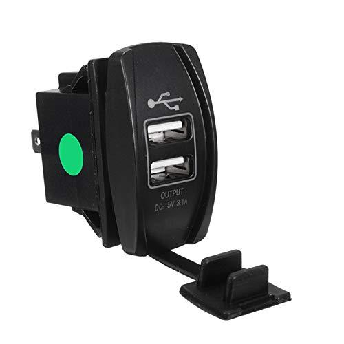 YaoH Store 12-24 V Dual USB Cargador de Coche Interruptor Rocker 5V 3.1A Auto Cargador de Teléfono para Coche Moto Barco
