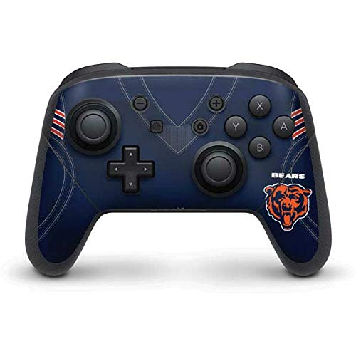 Skinit Decal Gaming Skin Compatible with Nintendo Switch Pro Controller - Officially Licensed NFL Chicago Bears Team Jersey Design