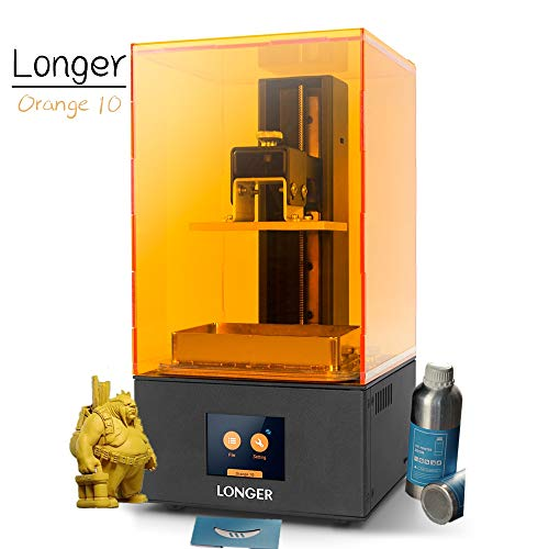 Longer LCD UV 3D Printer Orange 10, SLA Resin 3D Printer with 2.8-inch Full Color Touch Screen Off-line Printing Build Size 3.86 x 2.17x 5.5 inch and Standard Rapid Photopolymer Resin