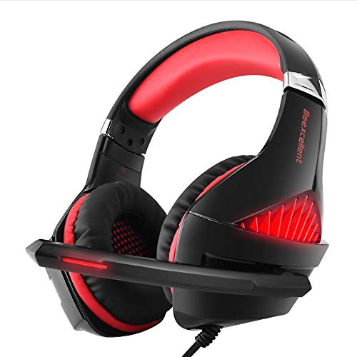 Dandan Wired Gaming Headset Best Stereo Gaming Headset with LED Microphone Litht for PC PS4 PC Player,B