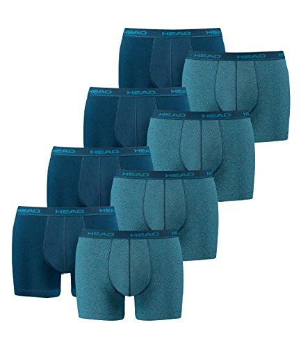 HEAD Herren Boxershorts im 8er Pack ohne Eingriff 841001001, M, Blue Heaven (494)