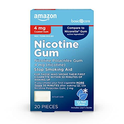 Amazon Basic Care Nicotine Polacrilex Coated Gum 4...