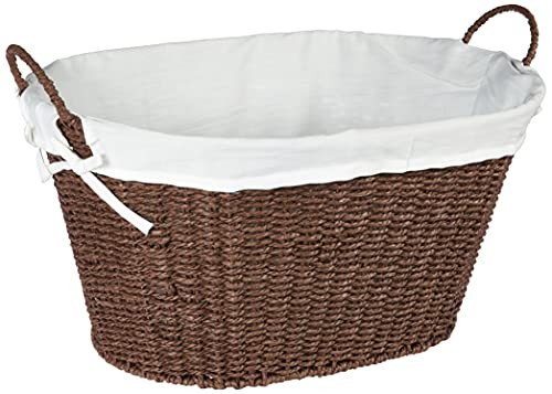 Lined Paper Rope Laundry Basket
