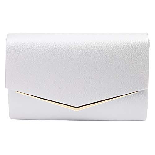 Anladia Elegante Abendtasche im Envelope Kuvert Design Dame Umhängetasche Envelope Handtasche Clutch Tasche mit abnehmbarer Kette