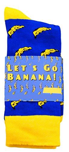 CHiLI Lifestyle Socks - Motivsocken Lustige Socken Bunte Socken Witzige Socken Verrückte Modische Ausgefallene Socken Mehrfarbige Socken Geschenk Baumwolle Strümpfe Coole Socken (Banana, 36-40)