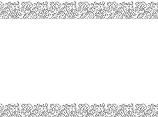 Silver Foil Filigree Print at Home Invitation Kit