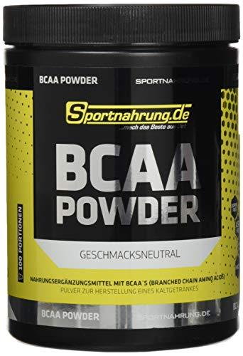 Sportnahrung.de BCAA 2:1:1 - hochdosiertes Pulver mit BCAAs im Verhältnis 2:1:1, zur Unterstützung von Muskelaufbau (Neutral), 500 g