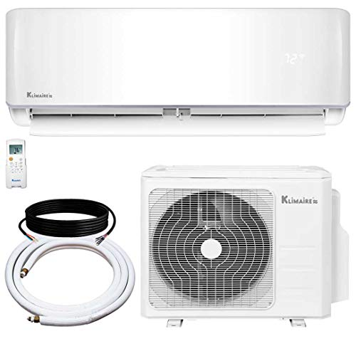 Klimaire 18,000 BTU KSIV 19 SEER Ductless Mini-Split Inverter Air Conditioner Heat Pump System with 15-ft Installation Kit 208/230V