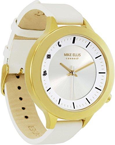 Mike Ellis Connect L4831C MEC Uhr Liz Edelstahl, Leder gelb-Gold/weiß