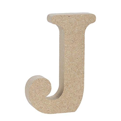 LIOOBO J Letras de Madera Independientes Letras del Alfabeto de Madera Boda decoración del Partido en casa