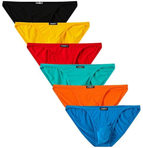 Jinshi Herren-Bikini-Slip mit niedriger Taille, ohne Etikett, Bambus-Unterwäsche - - Large