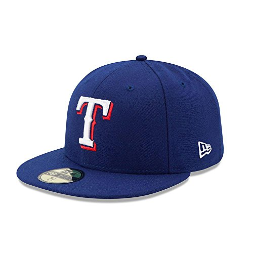 New Era 59FIFTY Texas Rangers MLB 2017 Authentic Collection On-Field Game Fitted Cap,Dark Blue,7.625 Authentic Fitted Hat Game