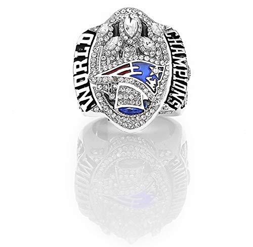 YANGLIXIA American Football Verleihung Custom Ring 2017 Patrioten Rugby Meisterschaft Ring mit Souvenir Ringkasten Männer Fan Geschenke 12#
