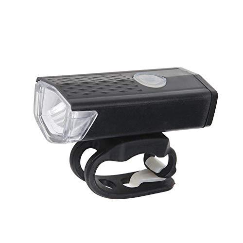 XBDD Fahrradlicht-Set, Fahrradlicht, USB wiederaufladbar, 300 Lumen, 3 Modi, Fahrrad-Frontlicht, wasserdicht, 6000 K, Fahrradscheinwerfer, LED-Taschenlampe (Farbe: Frontlicht)