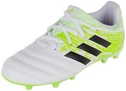 adidas Boys Copa 20.3 (FG) Football Shoe, Footwear White/Core Black/Signal Green, 37 1/3 EU