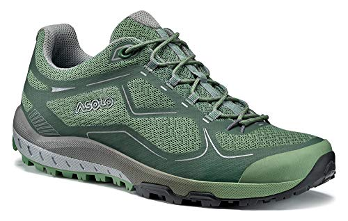 Asolo Women's Flyer Hiking Shoe Hedge Green 7.5 & Knit Cap Bundle