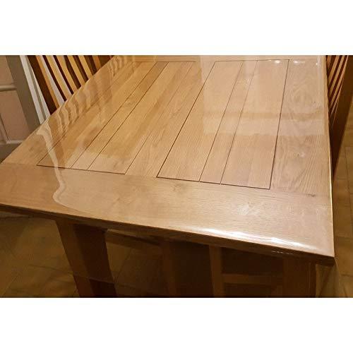 Nappe Transparente Épaisse, Large 180 cm - ART2LATABLE Nappe 00.4mm d'Épaisseur 1m80 cm de Large Protège Table ou Bureau Transparent 40/100 (Nappe Rectangle 180x100 CM)