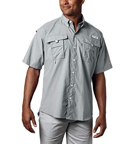 Columbia Men's PFG Bahama II Short Sleeve Shirt, Cool Grey, Medium