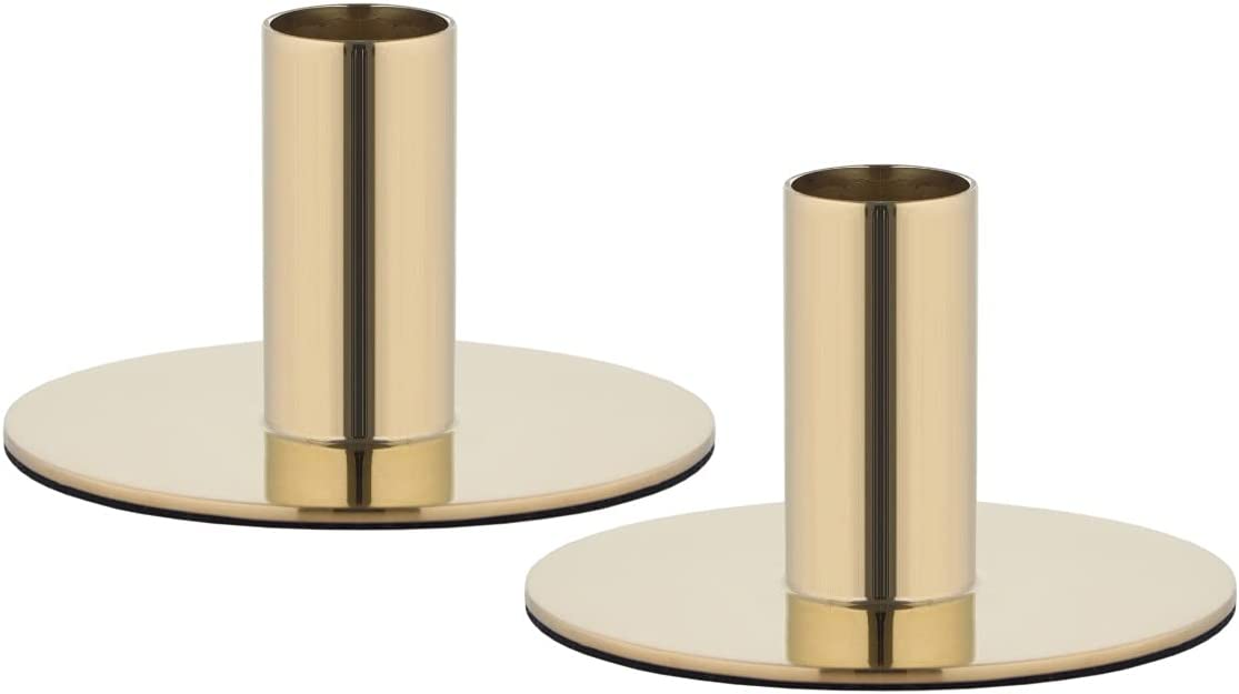 Online limited product Bold and Divine Set of 2 Candle Brass Stick Max 77% OFF Gold Decorative Hold