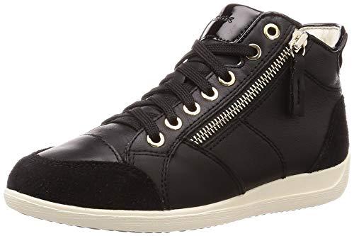 Geox Damen D Myria C Sneaker, Black, 41 EU