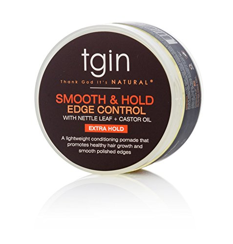 tgin Smooth & Hold Edge Control Infused With Nettle Leaf & Castor Oil For Natural Hair - Dry Hair - Curly Hair - 4 Oz