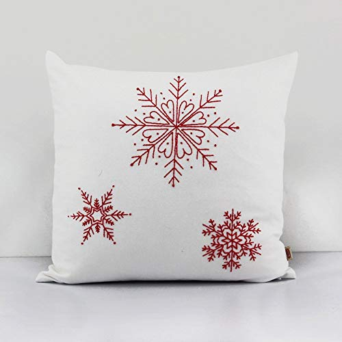 Embroidered Throw Accent Pillow