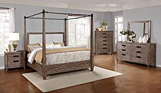 Inland Empire Furnitures Montego King Canopy Bed (Eastern King)
